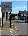 SS9184 : Wigan Terrace directions and distance sign, Bryncethin by Jaggery