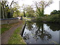 TQ0480 : A narrow boat approaching on the Slough Arm of the Grand Union Canal by Marathon
