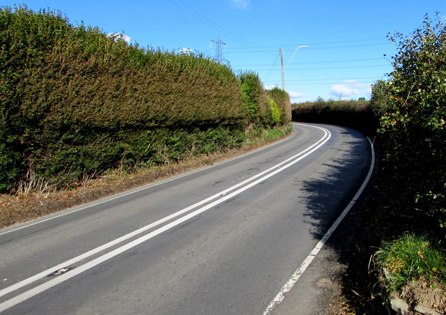 No overtaking on Blackmill Road north of Bryncethin