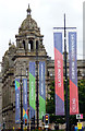NS5965 : Glasgow 2018 banners on George Square by Thomas Nugent