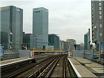 TQ3880 : View from rear of eastbound train, Blackwall station by Robin Webster