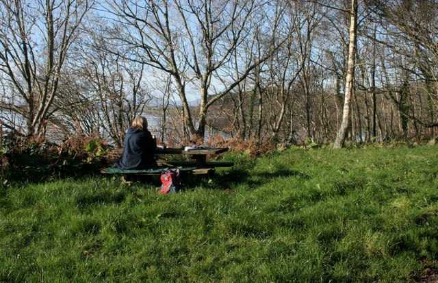 Picnic table at lay-by off the A816