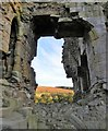 NU1109 : Edlingham Castle - through an archway in the tower by Gordon Hatton