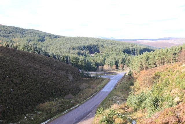 A941 at Glacks of Balloch