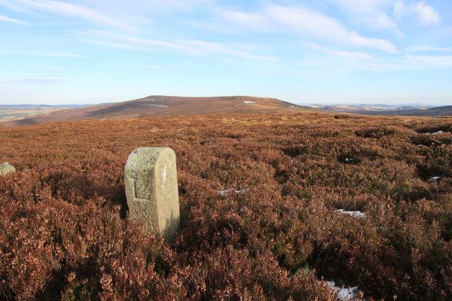 Boundary Stone Above Glen Markie