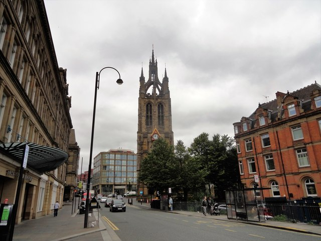 View along St Nicholas Street to the cathedral