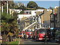 SX9163 : Fire engines, Torquay harbour by Derek Harper