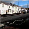 ST3490 : White houses, Mill Street, Caerleon by Jaggery