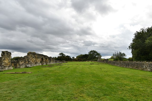 Byland Abbey: The Cellarers Yard