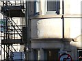 SD4761 : Erased inscription on former hotel, Church Street, Lancaster by David Smith