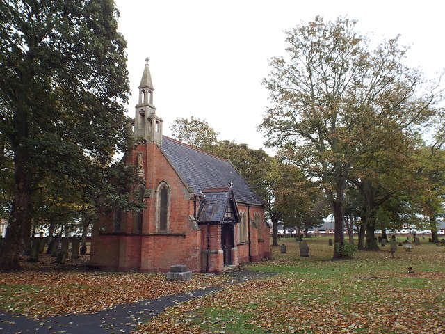 Disused chapel in Bishopwearmouth Cemetery, Sunderland