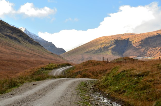 Track up the Cononish glen