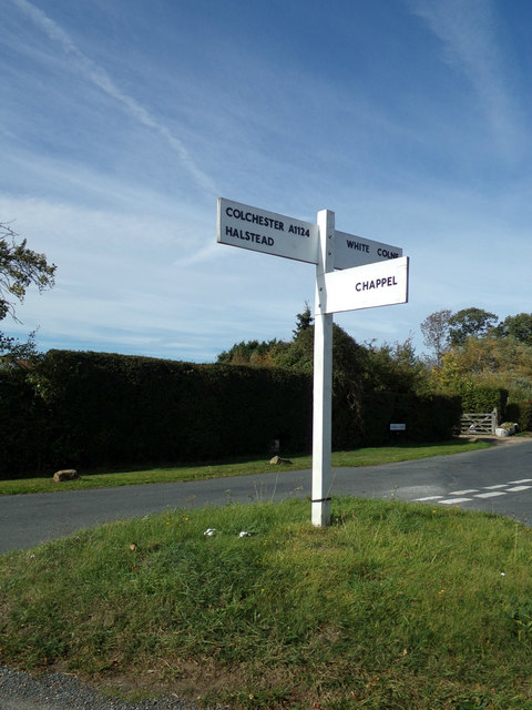 Signpost on Lower Green