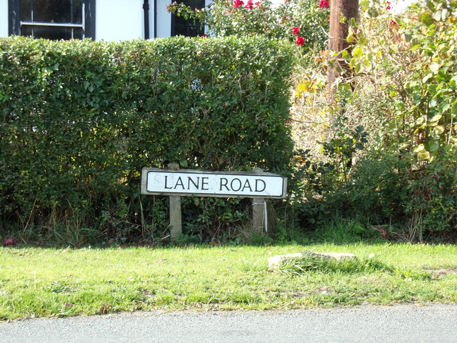 Lane Road sign