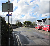 ST3390 : Cycle route 88 direction sign, Broadway, Caerleon  by Jaggery