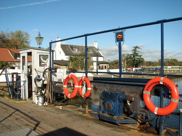 The Reedham Ferry Inn as seen from the Reedham Ferry