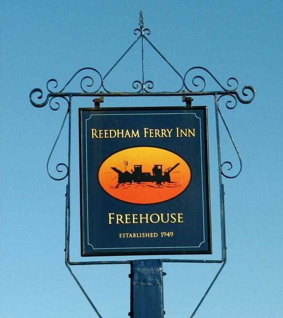 The Reedham Ferry Inn (pub sign)