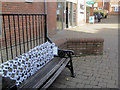 SP9211 : Seat with White Poppies in Dolphin Square, Tring by Chris Reynolds