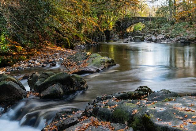 Trough House Bridge in Autumn