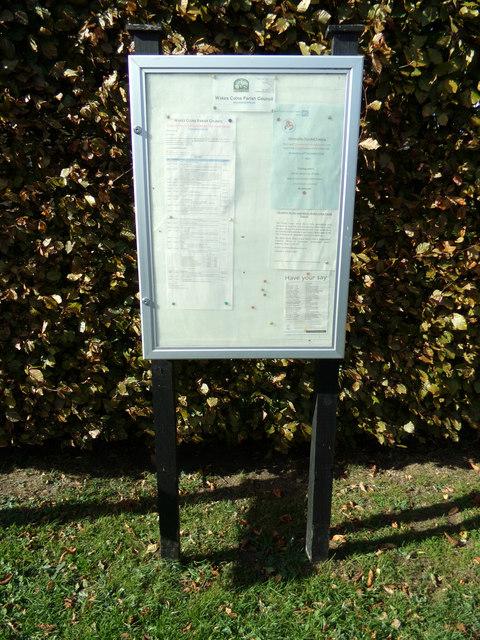 Wakes Colne Village Notice Board