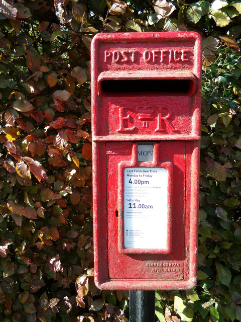 Upper Wakes Colne Green Postbox