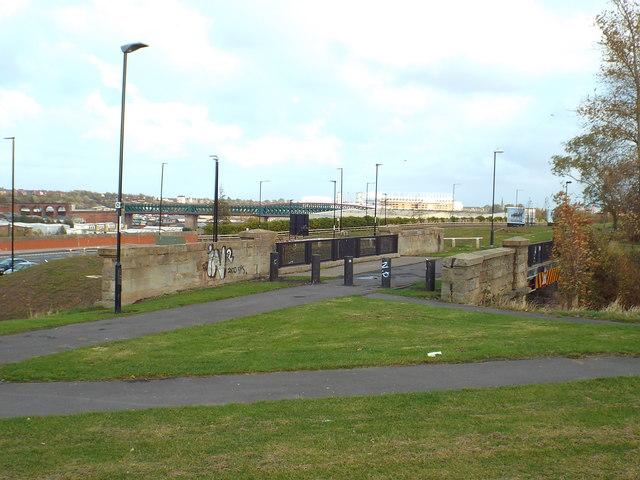 Former railway path at Pallion, Sunderland