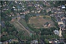 SK8608 : Oakham Castle site: aerial 2018 by Chris
