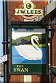 SD9504 : Sign for the Swan public house, Lees by JThomas