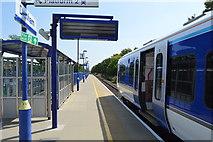 TQ0487 : Platform 1, Denham Station by N Chadwick