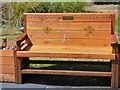SJ8397 : Memorial bench in St John's Gardens by Gerald England