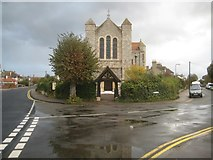 TM1714 : Clacton-on-Sea: Roman Catholic Church of Our Lady and St Osyth: Lych Gate by Nigel Cox