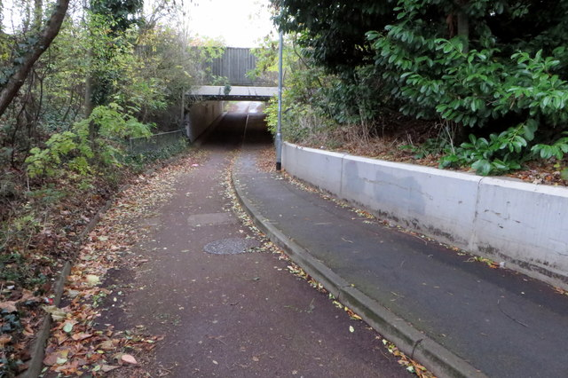 Footpath under the A5123