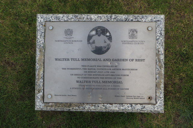 Walter Tull memorial plaque