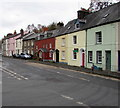 SO0428 : Colourful houses in Struet, Brecon by Jaggery