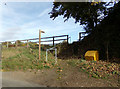 TL8629 : Footpath to Bures Road by Adrian Cable