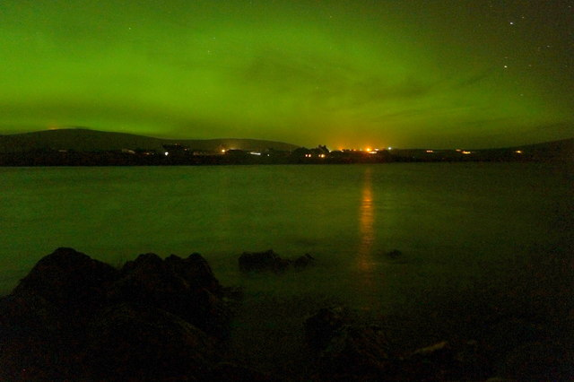 Aurora borealis over Haroldswick