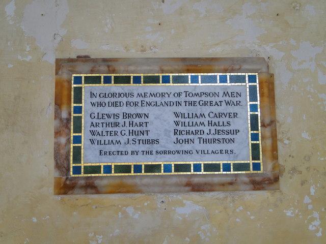 Thompson St. Martin Great War Memorial