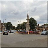 SP4540 : Banbury Cross by Gerald England
