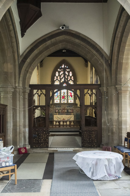 Interior, St Mary Magdalene church, Waltham on the Wolds