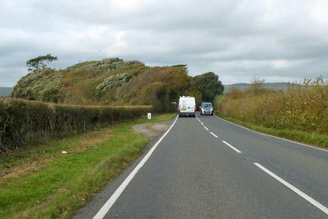 B3157 approaching Langton Cross