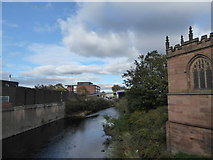 SK4293 : River Don, looking north from Rotherham Bridge by Basher Eyre