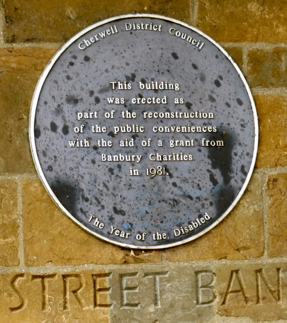Banbury Conveniences: Plaque