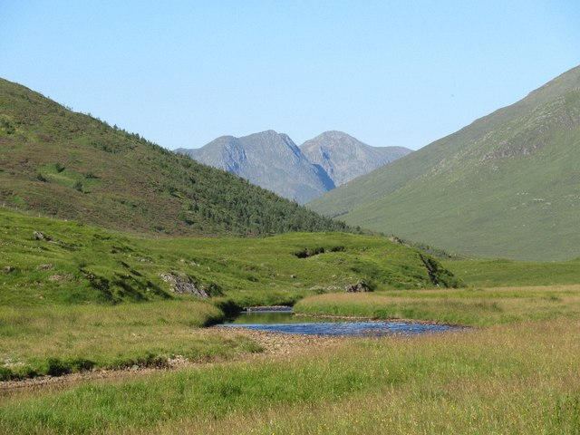River Affric and a view to Kintail
