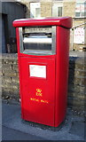 SE1115 : Royal Mail business box on Market Street, Milnsbridge by JThomas