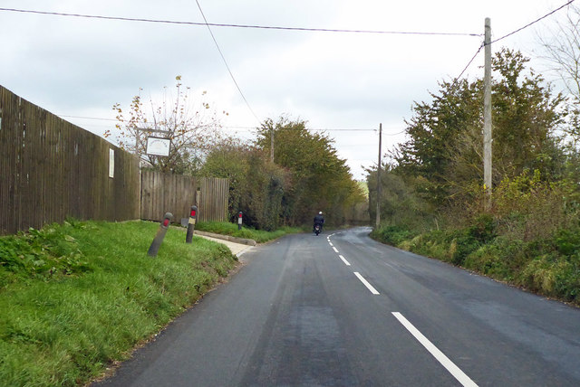 Coombe Road by Coombe Farm