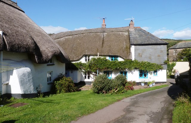 Thatched cottages at Inner Hope, Devon