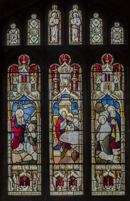 Stained glass window, St Mary Magdalene church, Waltham on the Wolds