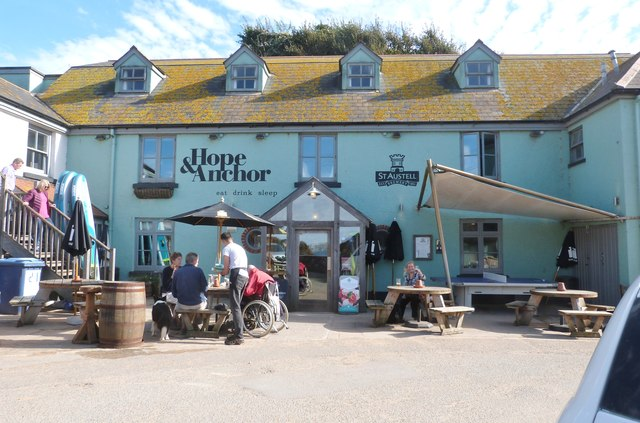 The Hope & Anchor pub at Outer Hope, Devon