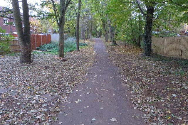 Footpath towards Hunsbury Hill