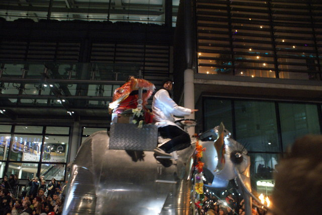 View of an elephant in the lantern parade of Light Up the Night